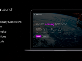 New Launch – Responsive Coming Soon Page HTML